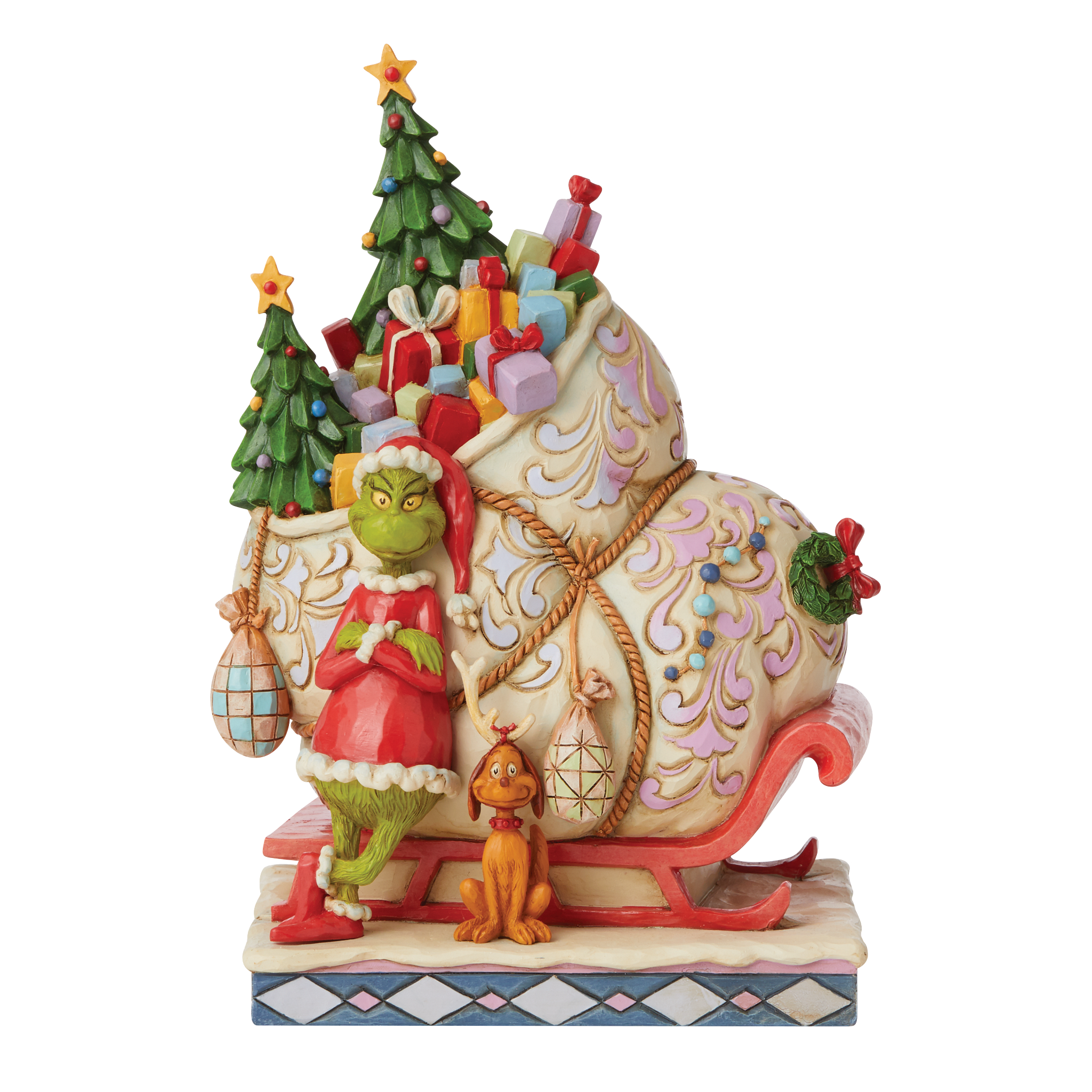 Jim Shore - Figurines 'Grinch by Sleigh With Max N' 2021