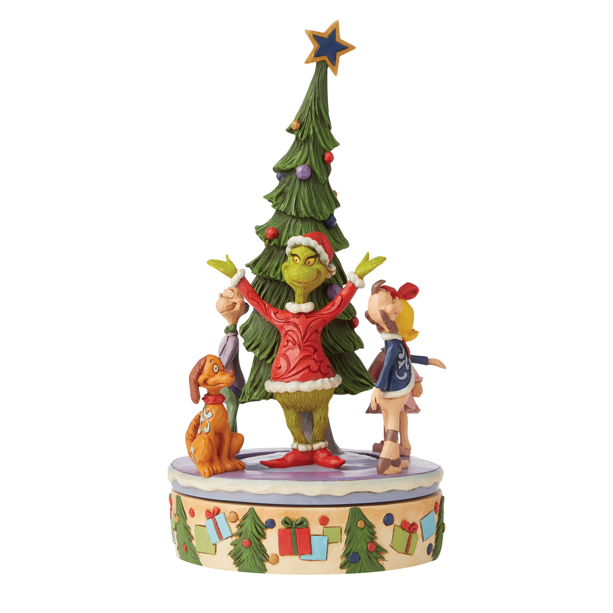 Jim Shore - Figurines 'Grinch Rotator with Whos N' 2021