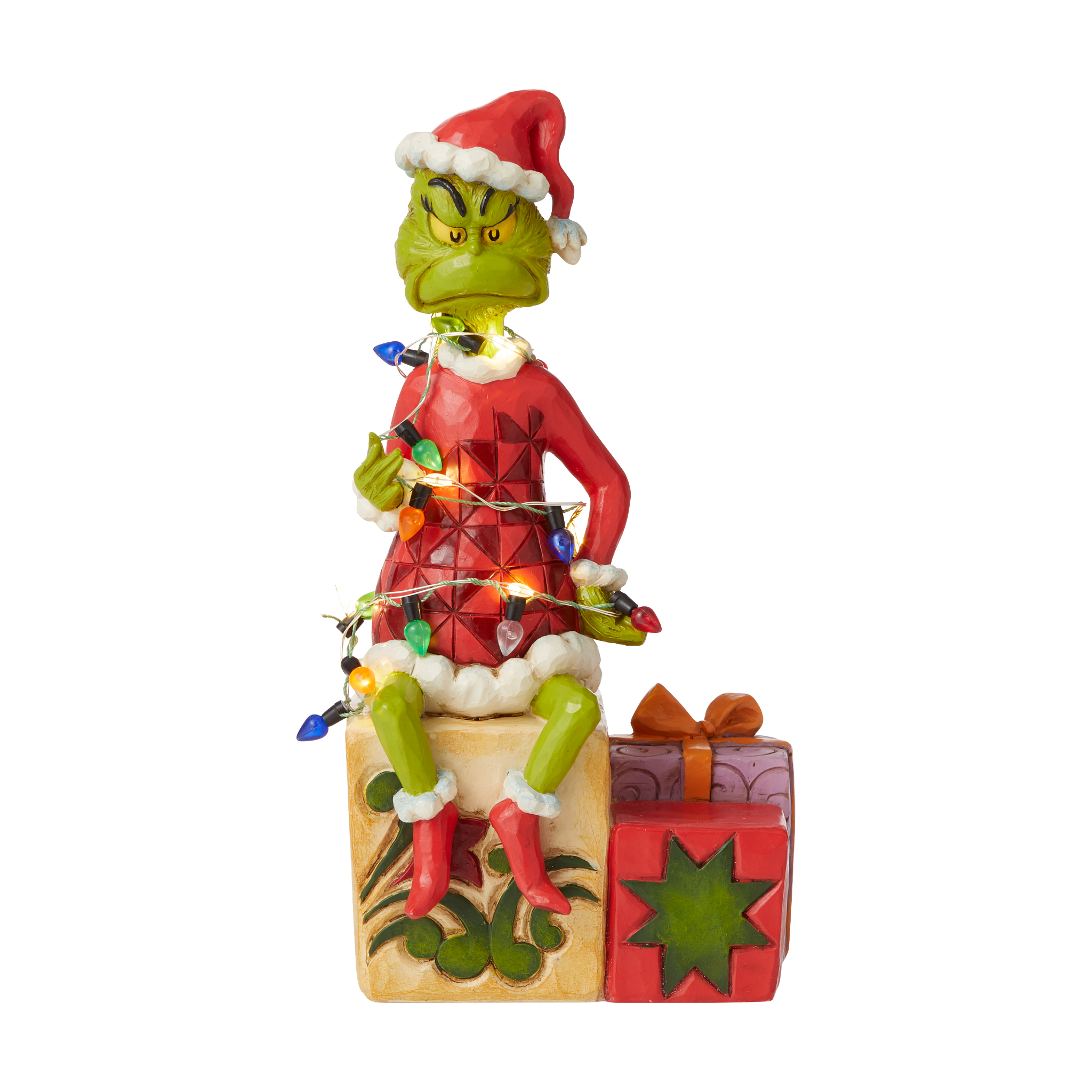 Jim Shore - Figurines 'Grinch with String of Lights N' 2021