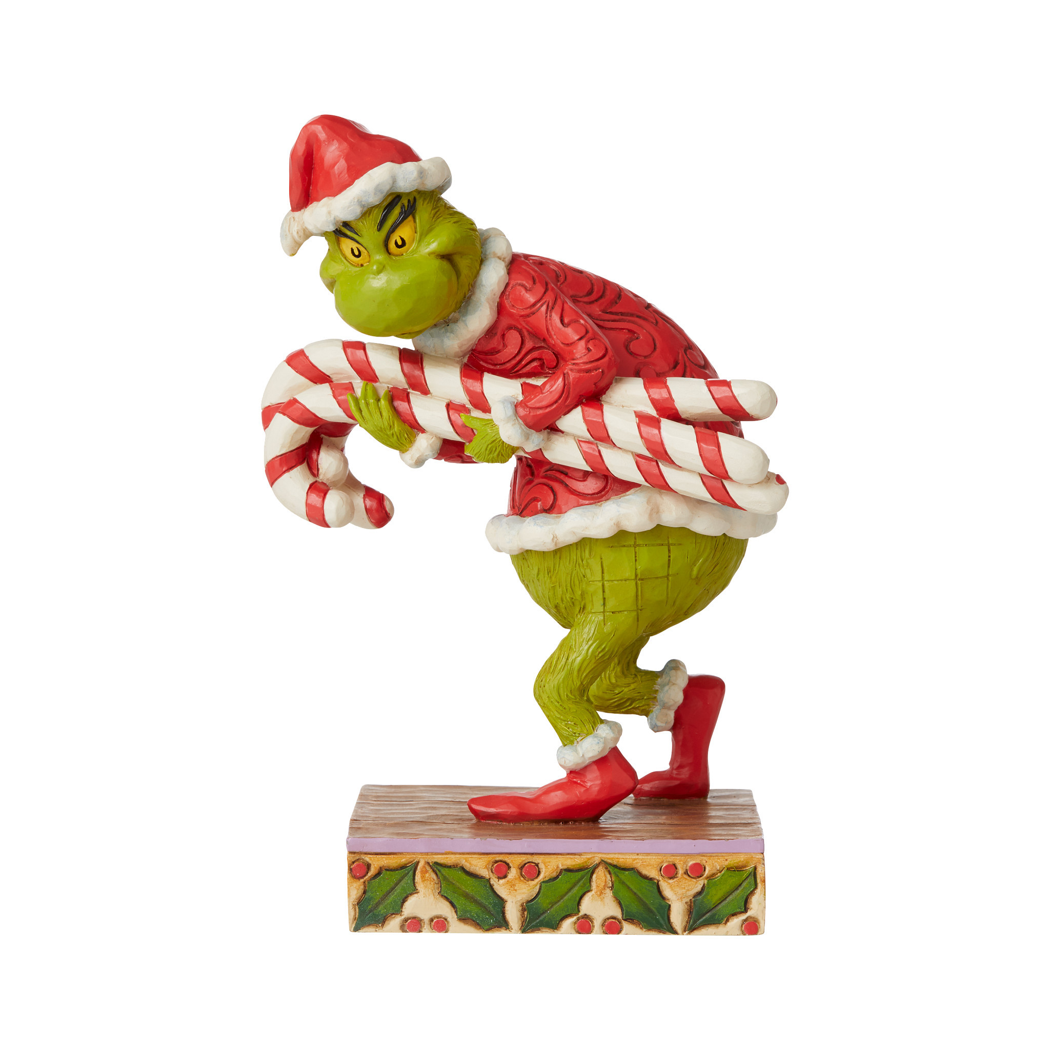 Jim Shore - Figurines 'Grinch Stealing Candy Cane N' 2021