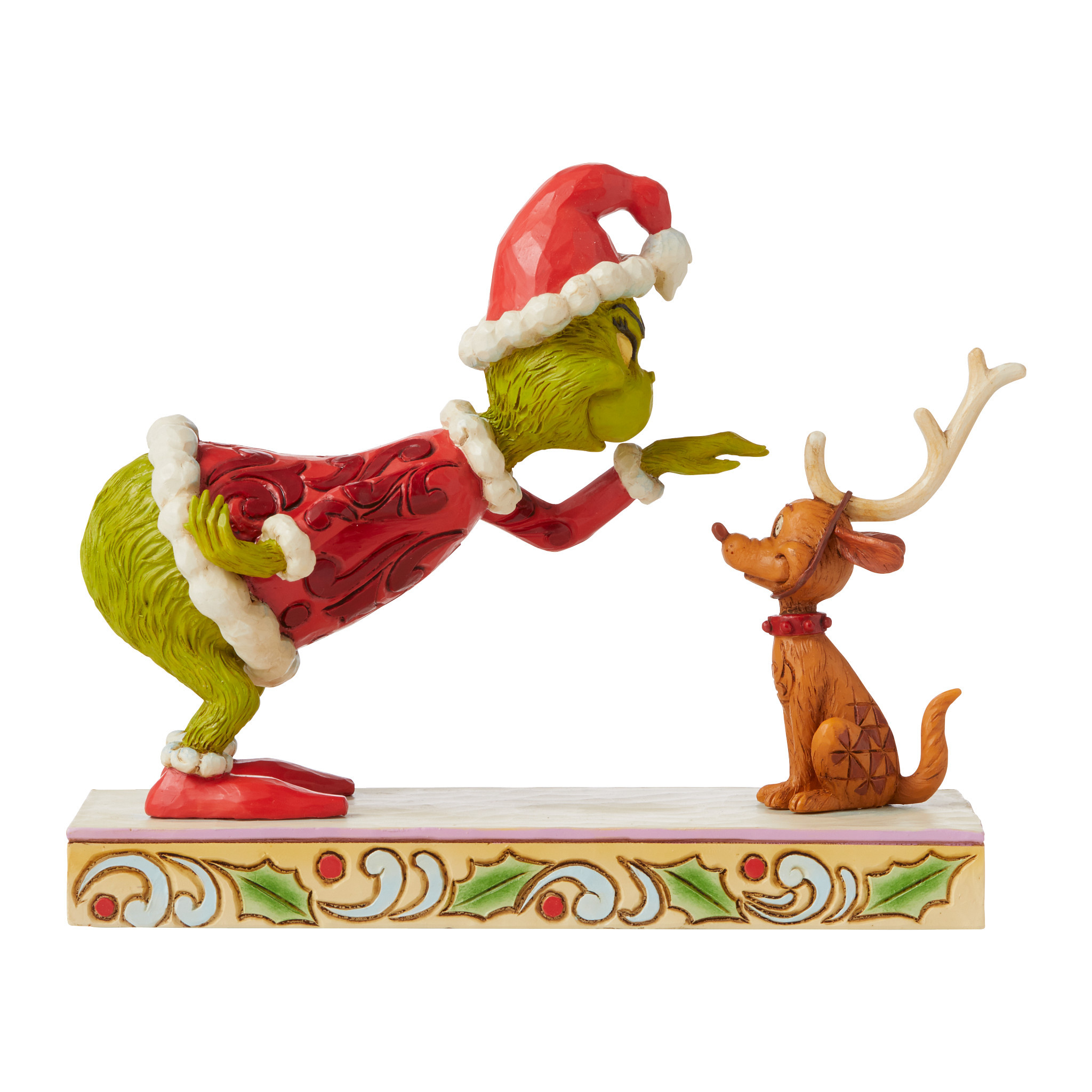 Jim Shore - Figurines 'Grinch Patting Max N' 2021
