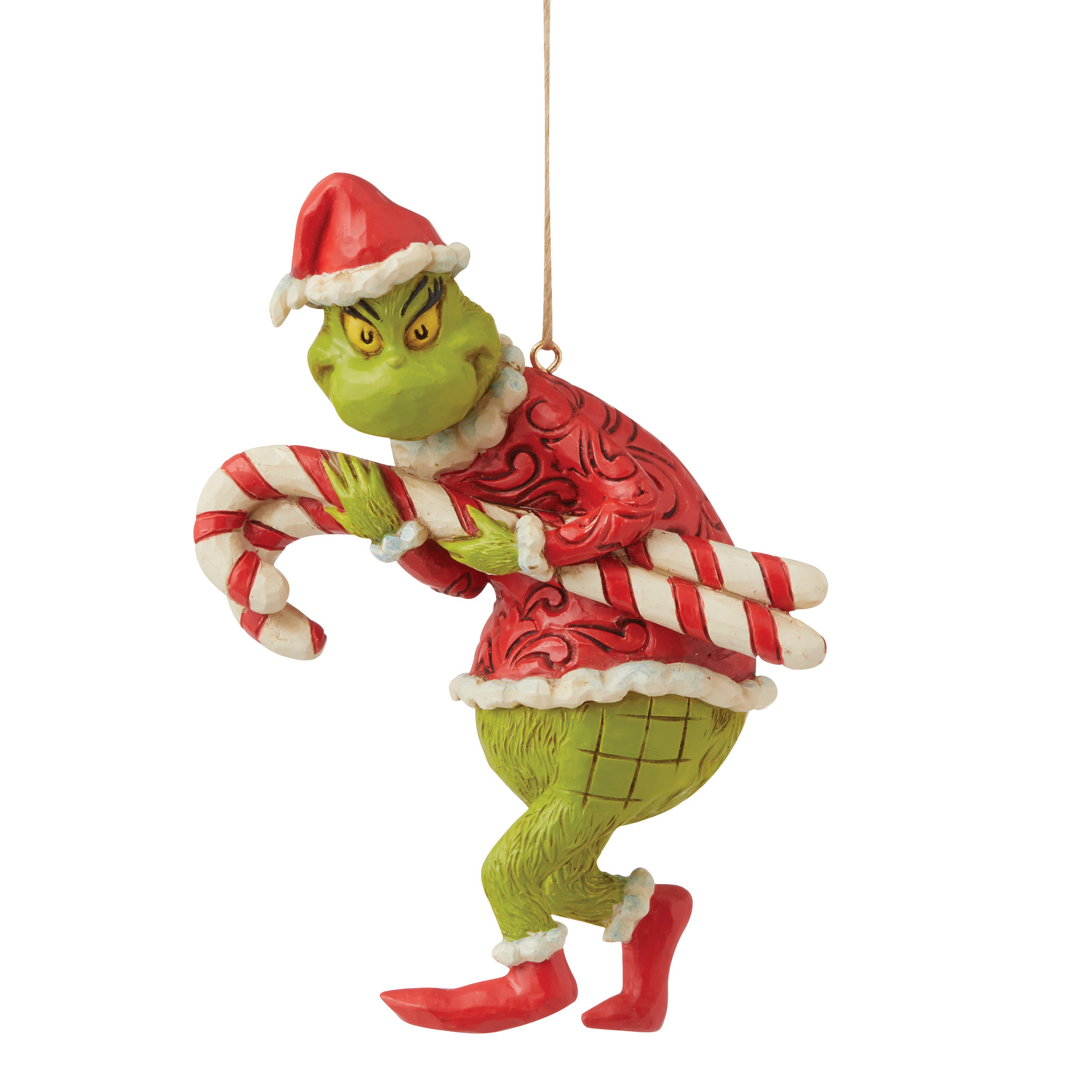 Jim Shore - Christmas Accessories 'Grinch Stealing Candy Canes (Hanging Ornament) N' 2021