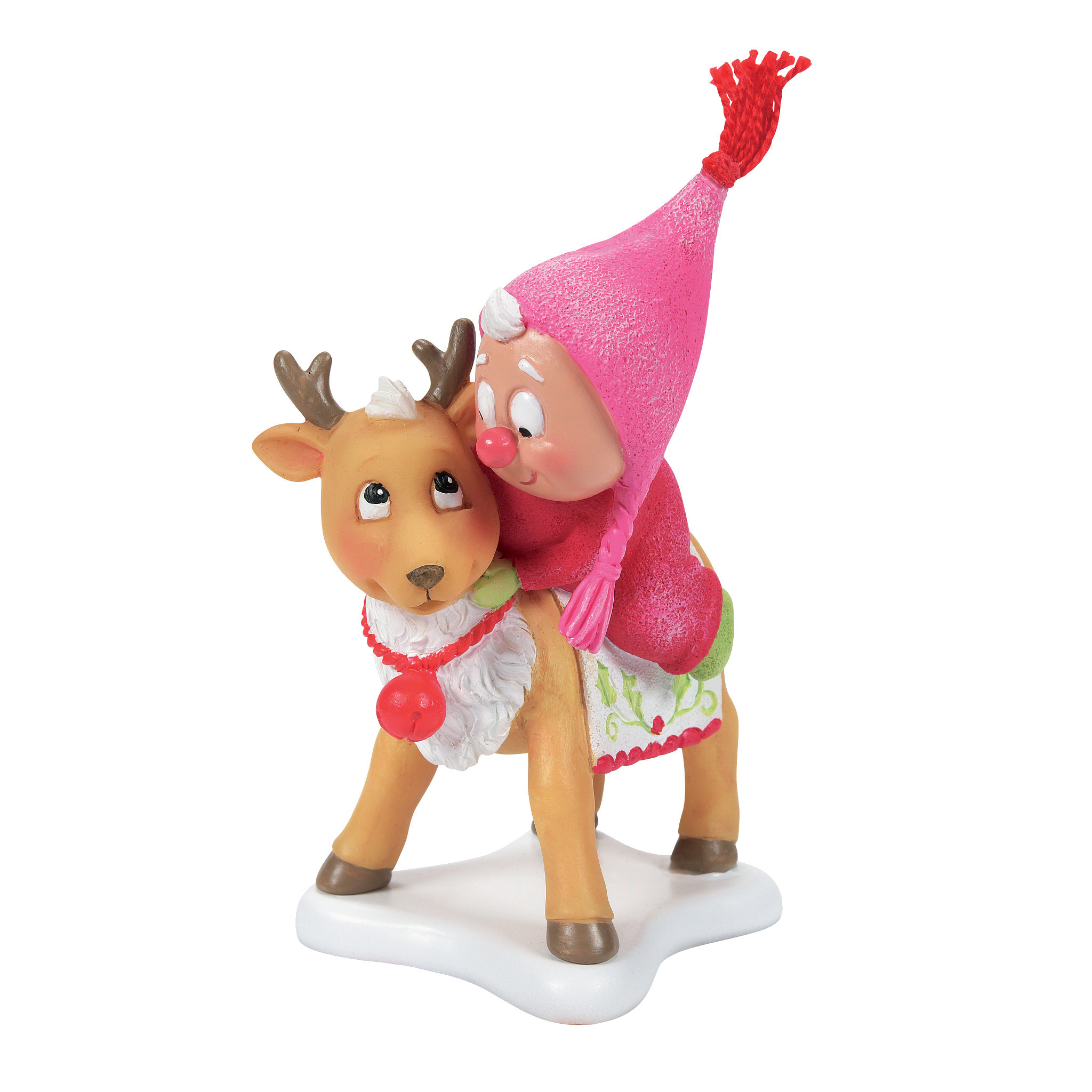 Department 56 ® - Figurines 'Snow Gnome on Deer N' 2021