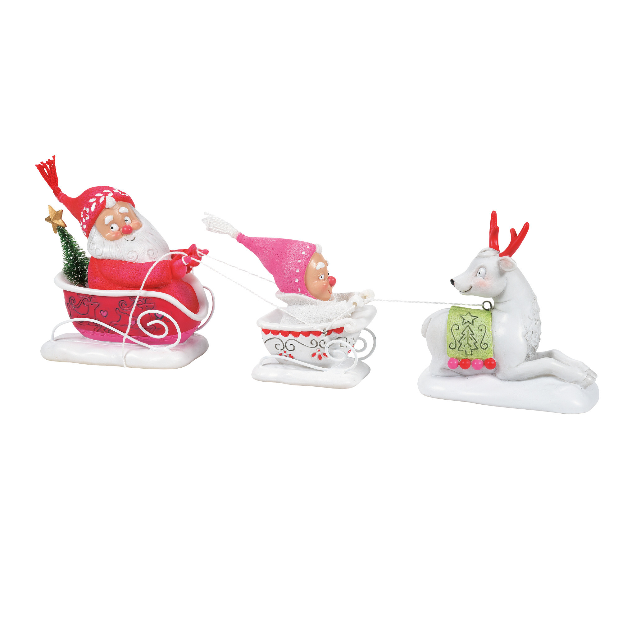 Department 56 ® - Figurines 'Snow Gnome Sleigh N' 2021