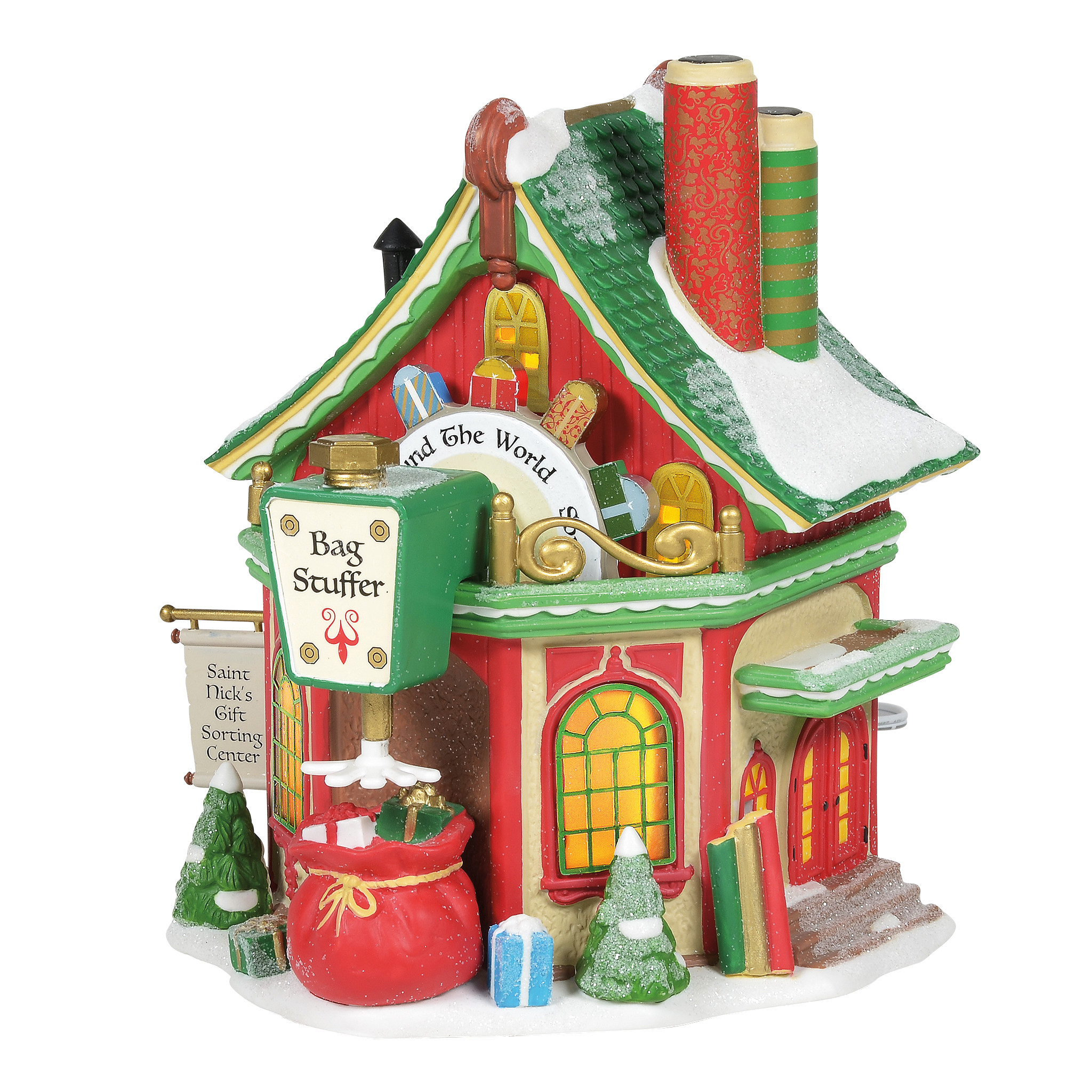 Department 56 ® - Buildings 'Saint Nick's Gift Sorting Centre (Europe) '