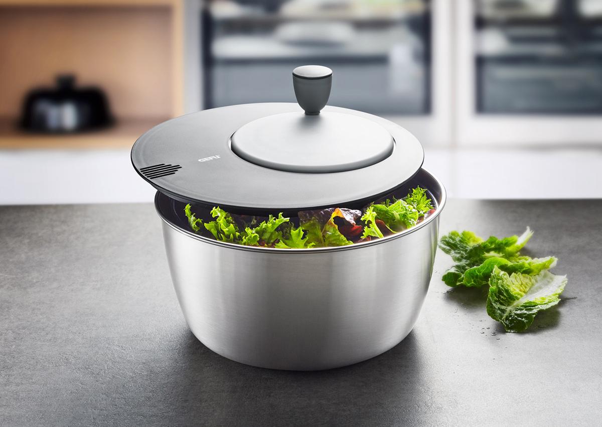 GEFU - 'Salatschleuder ROTARE, Edelstahl - Küchenutensilien'