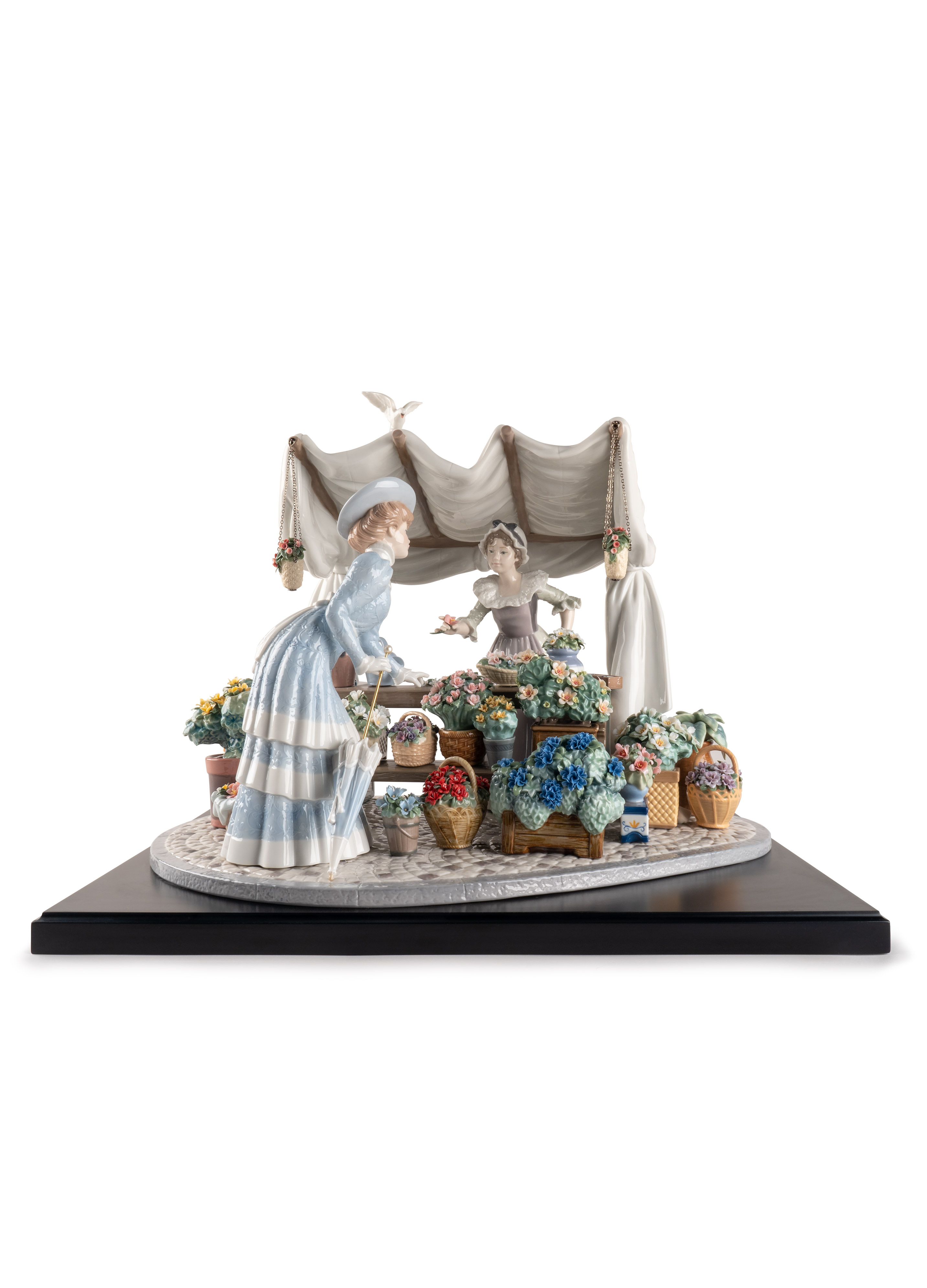LLADRO® - 'Flowers market - Base included' Limited edition of 750 pieces 2021 !