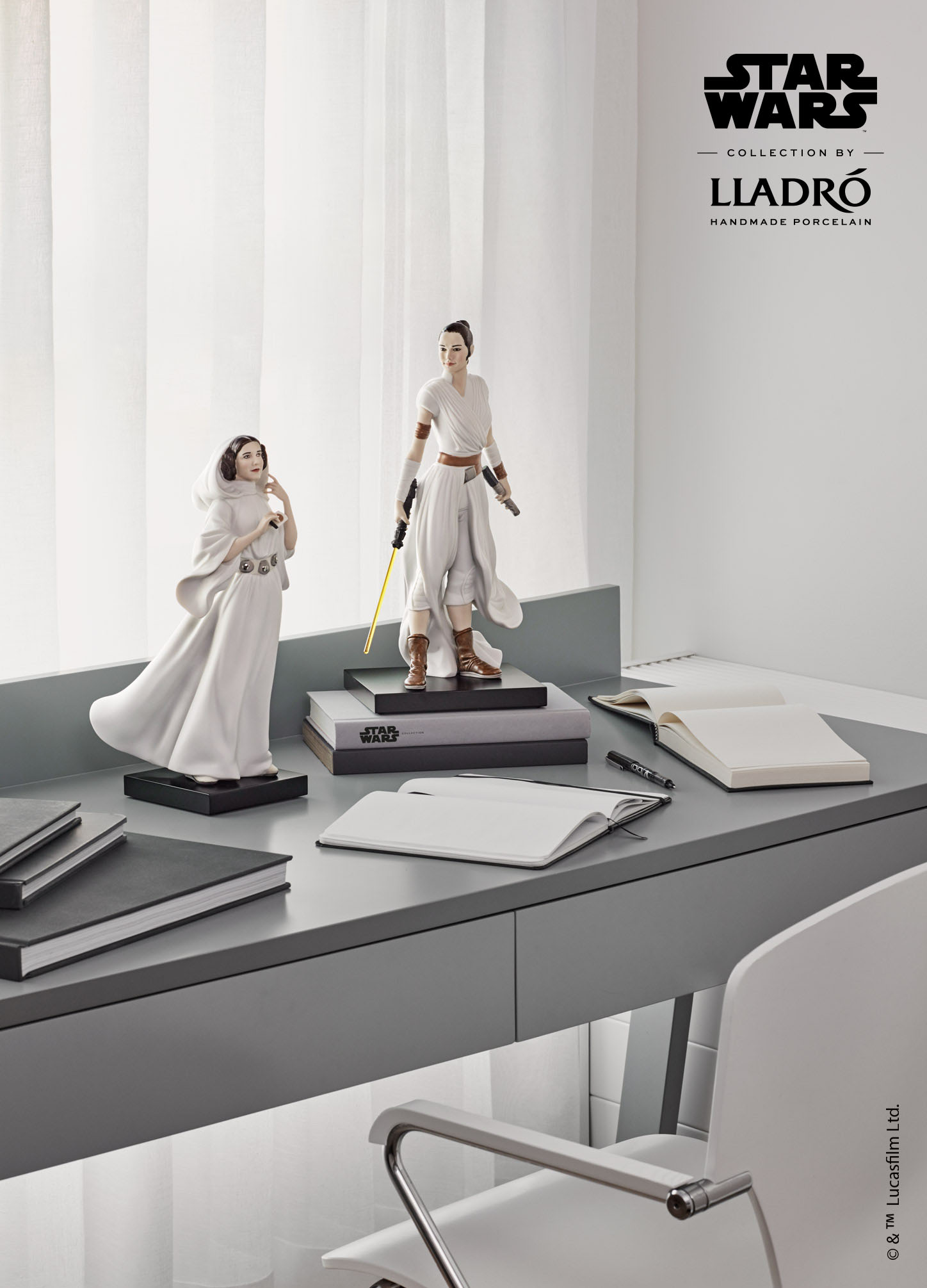 LLADRO® - 'Rey (Star Wars Collection by Lladro) - Base Included' 2021 !
