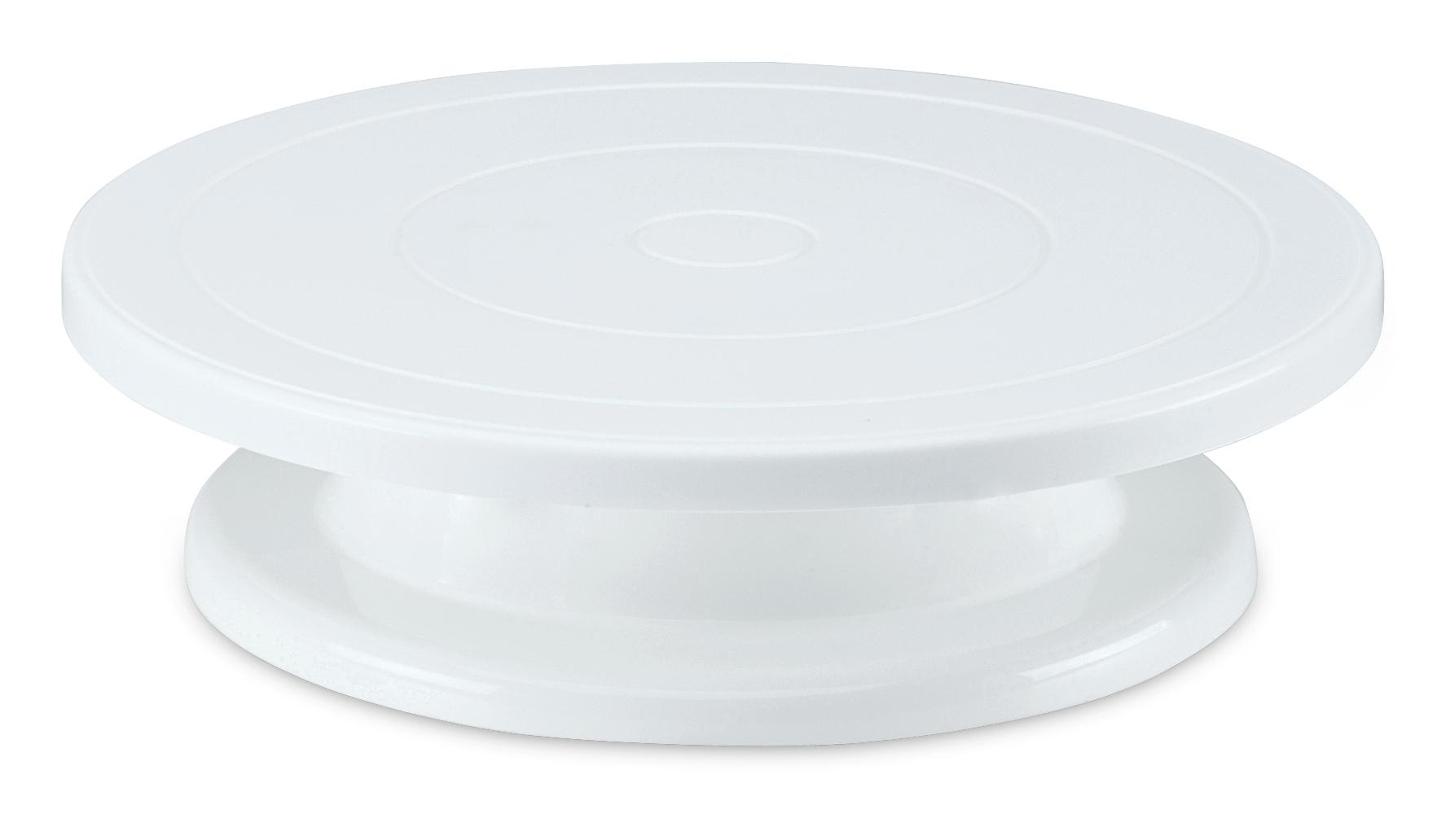 Städter - 'BACKZUBEHÖR-Tortenplatte ø 27,5 cm / H 7 cm Weiß drehbar'